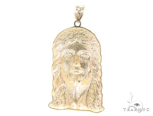10k Yellow Gold Jesus Pendant 44270 Style