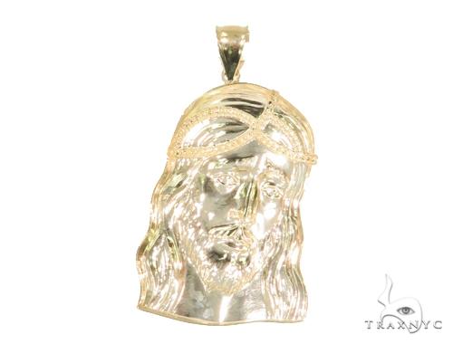 10k Yellow Gold Jesus Pendant 44396 Metal