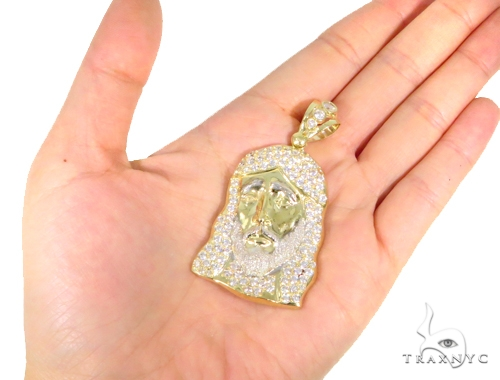 10k Yellow Gold Jesus Pendant 44397 Metal