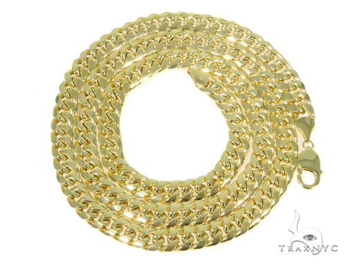 10k Yellow Gold Miami Cuban Chain 32 Inches 9mm 92.2 grams 44676 Gold