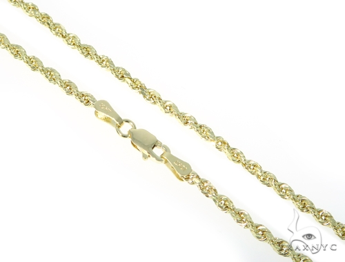 10k Yellow Gold Rope Chain 16 Inches 2mm 2.2 Grams 49779 Gold