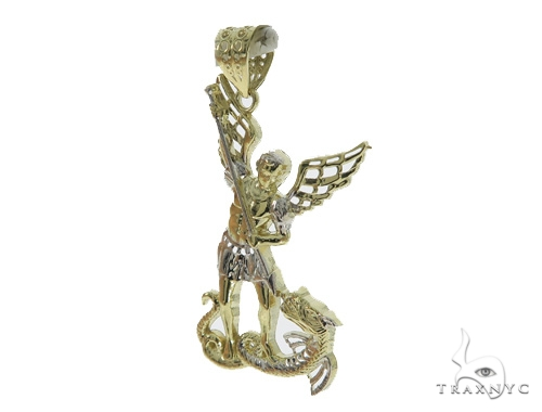 10k Yellow Gold Saint Michael Pendant 44277 Metal