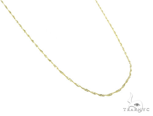 10k Yellow Gold Singapore Necklace 44831 Gold