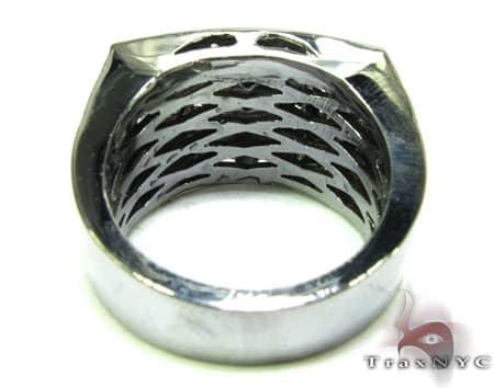 Black Diamond 5 Row Prong Ring Stone