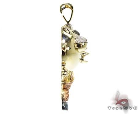 Custom Jewelry - Diamond Stewie Pendant Metal