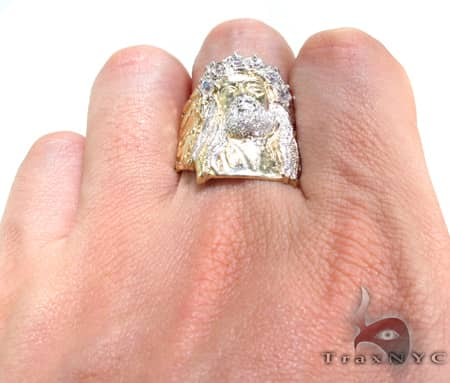 XL Jesus Head Ring Metal