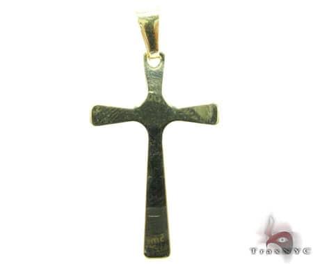 Simple Mens Cross Gold