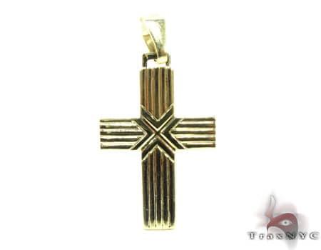 Striped Cross Gold