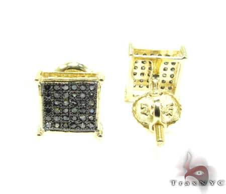 Black Diamond Earrings  2 Stone