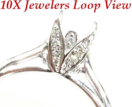 WG Flower Petal Semi-Mount Ring Engagement
