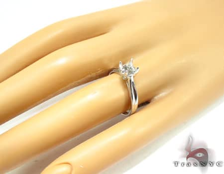 WG Flower Petal Semi-Mount Ring Engagement