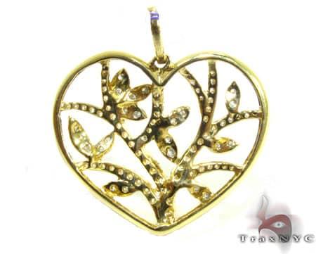 Floral Heart Pendant Stone