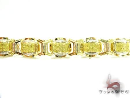 Round Cut Canary Bracelet Diamond