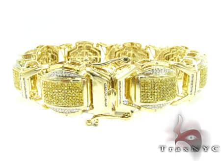 Round Cut Canary Bracelet Diamond