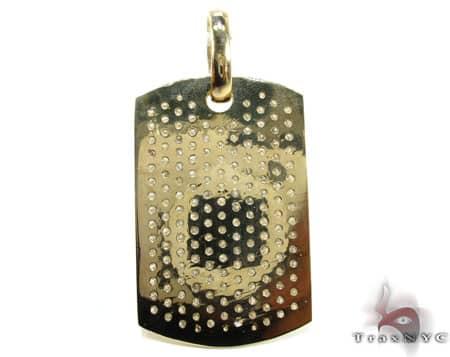 YG Pave XL Dog Tag Metal