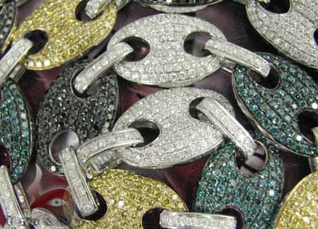 Multi Color Anchor Chain 27.75 Inches, 117 Grams Diamond