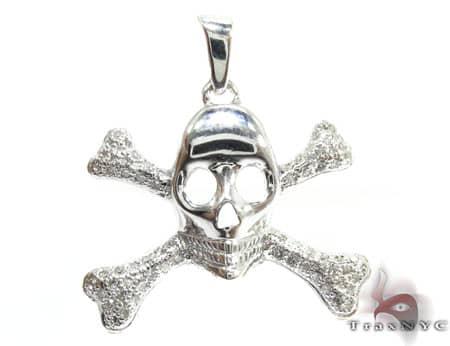 Skull & Cross Crucifixbones Pendant ダイヤモンド ペンダント