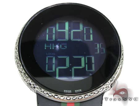 Fully Iced Black Diamond Digital Gucci Watch Gucci