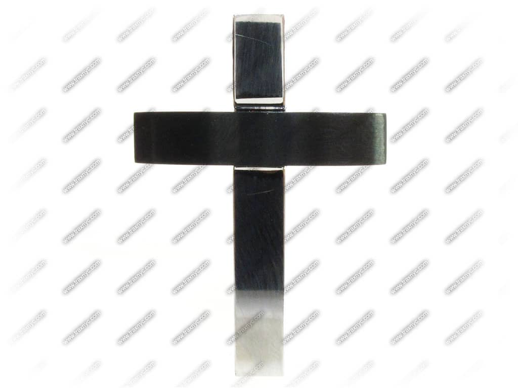 Blackjack men's stainless steel cross pendant