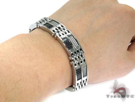 Wire Stainless Steel Bracelet BJB17 Stainless Steel