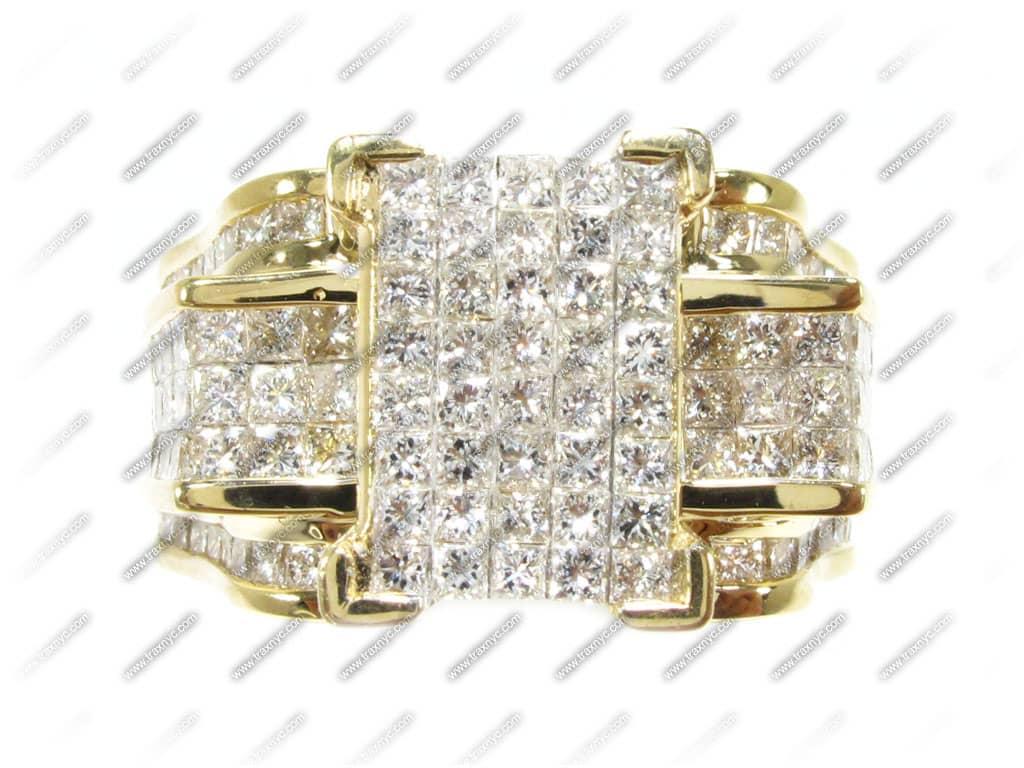 yg rockette ring wedding ring yellow gold 14k