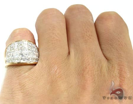 Rose Gold Invisible Ring Stone