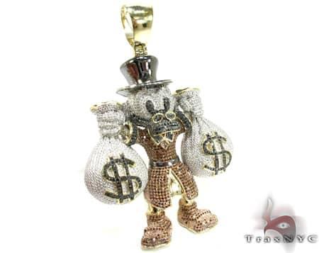 Custom Jewelry - Scrooge McDuck Pendant Metal