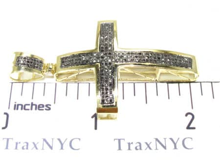 Gothic Black Diamond Junior Cross Diamond
