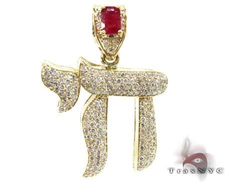 Custom Jewelry - Ruby Chai Pendant Metal