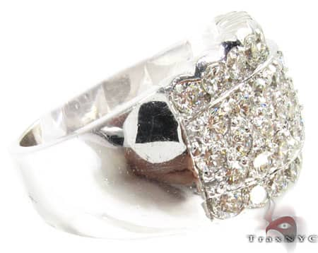 18K White Gold & Diamond Czar Wave Ring Stone