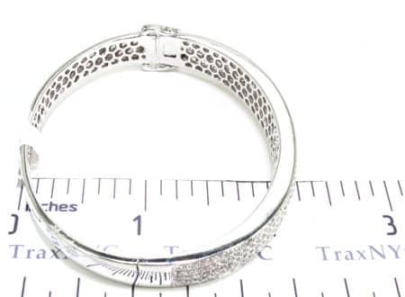 5 Row Icy Bangle Bracelet Diamond