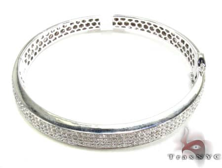 5 Row Icy Bangle Bracelet Diamond