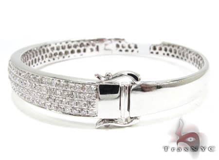 4 Row Icy Bangle Bracelet Bangle