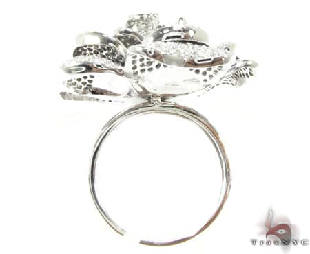 Peony 14K White Gold & Diamond Ring Anniversary/Fashion