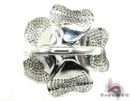 Peony 14K White Gold & Diamond Ring Anniversary/Fashion