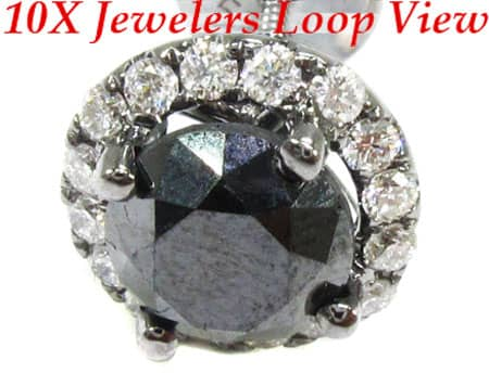 Black Euphoria Earrings 1 Stone