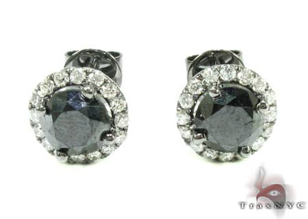 Black Euphoria Earrings 1 Stone