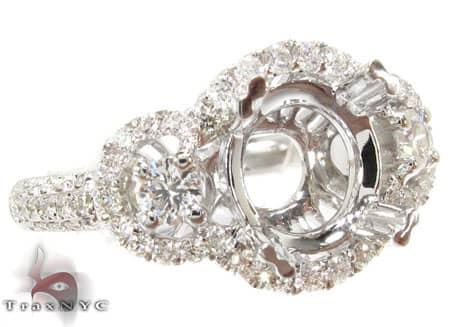 Reverse Semi Mount Ring Engagement