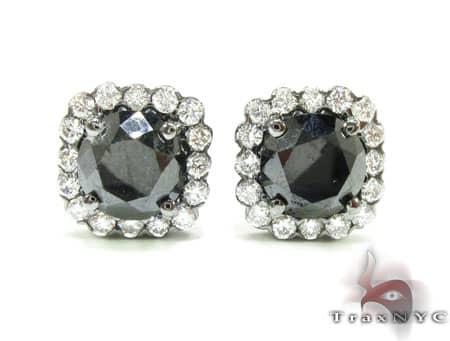 Heiress Black Diamond Earrings Mens Diamond Earrings
