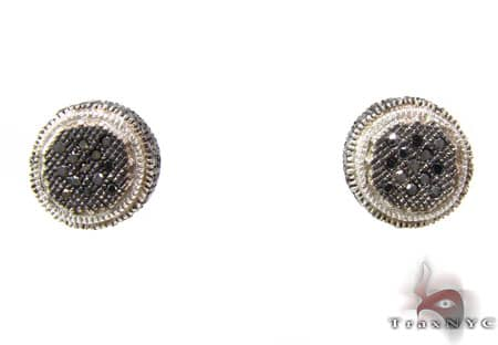 Black & White Bush Earrings 2 Stone
