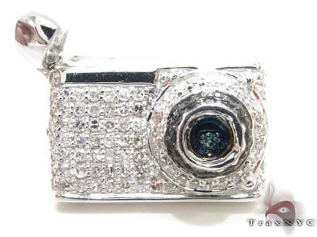 Slim Digital Camera Pendant Diamond Pendants