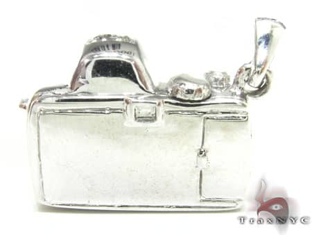 Blue Diamond Digital Camera Pendant Metal