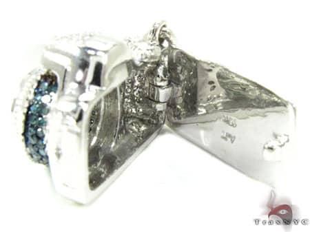 Blue Diamond Digital Camera Pendant Metal
