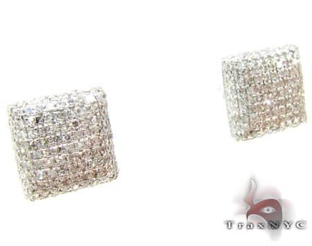 Ice Pillow Earrings Stone