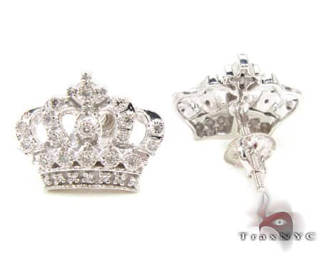 Royal Crown Earrings Stone