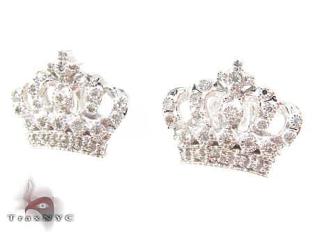 Royal Crown Earrings Stone