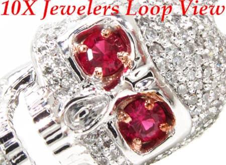 Custom Jewelry - Diamond Skull Bracelet 2 Diamond