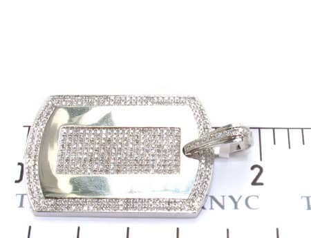 Micro Pave Dog Tag Metal