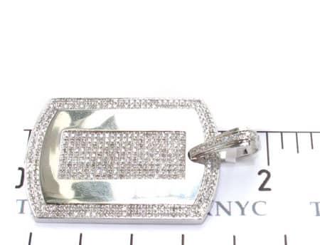 Micro Pave Dog Tag Metal
