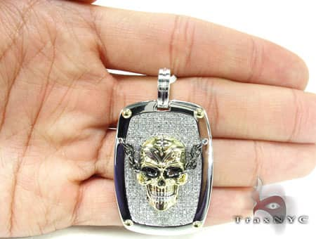 Yellow Skull Dog Tag Metal